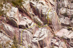 Rock Climbing Photo: Second and third pitches of Rock For Climbing Rout...