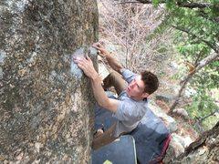 Rock Climbing Photo: Nearing the topout.