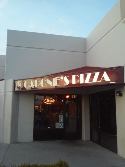 Try Capone's Pizza after climbing at Hangar 18 Riverside