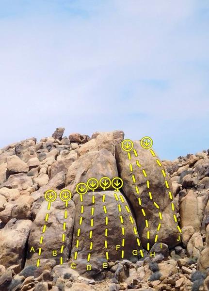 Rock Climbing Photo: Riders Ready Wall, Horsemen's Center  A. Take the ...