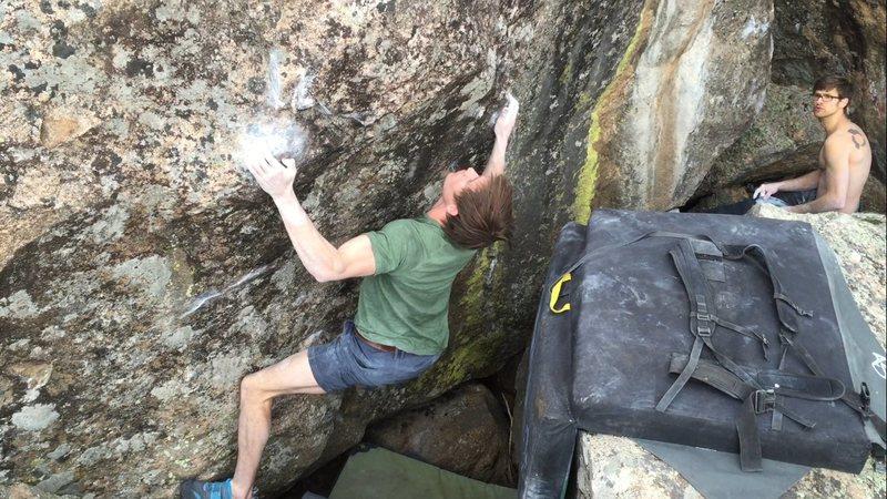 Rock Climbing Photo: Griffin Whiteside on the FA.