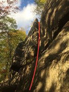 Rock Climbing Photo: Generalized route line for what we like to call Al...