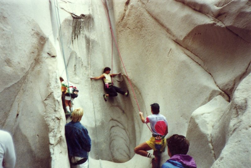 Rock Climbing Photo: Jay Smith top roping the right side at the second ...