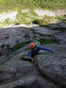 Rock Climbing Photo: Lake View - Cannon Cliff, NH
