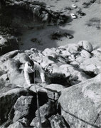 Rock Climbing Photo: Stan Hare on Utmost Enthusiasm, 2nd pitch, Septemb...