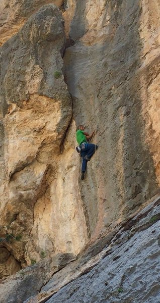 Rock Climbing Photo: Me on shell shocked. Thanks for the picture gordon...
