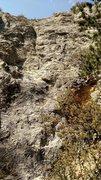 Rock Climbing Photo: Gold Digger, 5.10a at the Bighorn Wall.