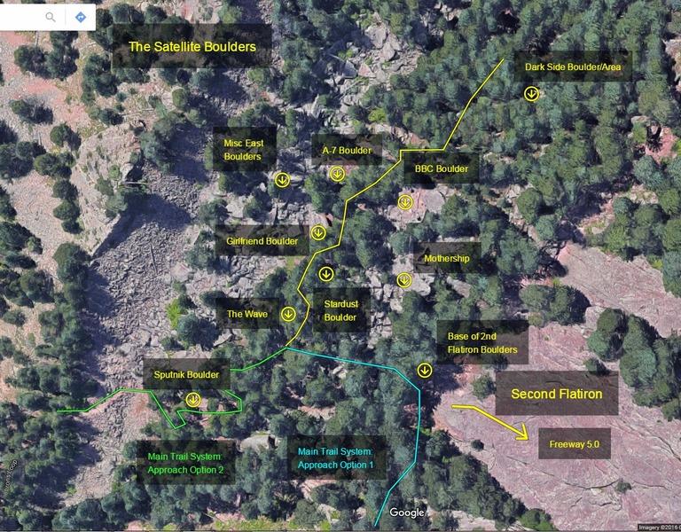 Major boulder/area locations. <br>