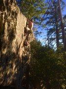 Rock Climbing Photo: Back Woods FA!!!!!!