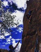 Rock Climbing Photo: TR'ing Earth Angle 5.10d
