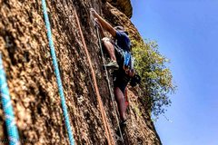 Rock Climbing Photo: Setting up top ropes for the group at Upper Devil'...