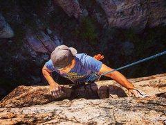 Rock Climbing Photo: Just below the top anchors. Totem Pole