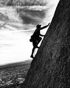 Rock Climbing Photo: Silhouette 5.8 Pinnacle Peak