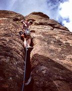 Rock Climbing Photo: After exiting the Pancake House through the chimne...