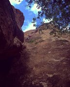 Rock Climbing Photo: The view from outside the Pancake House. Still no ...