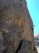 "Rock Climbing Photo: Tom Grundy sussing out the sequence on ""Direc..."
