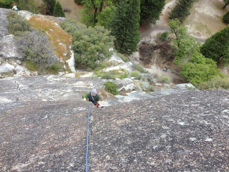 Rock Climbing Photo: Richard Duncan on pitch three