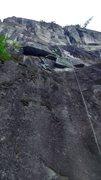 Rock Climbing Photo: Rope solo heaven, Tempituous left, Jungle Fun righ...