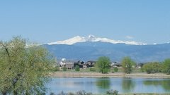Long's peak from Loveland on May 12