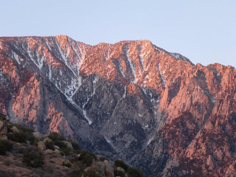 Rock Climbing Photo: Dawn on Snow Creek.
