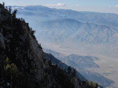 Rock Climbing Photo: San Gorgonio as seen on route.