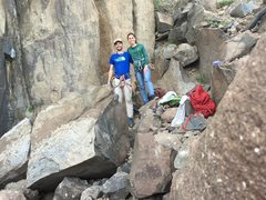 Rock Climbing Photo: At the base before the send of the Birthday Variat...