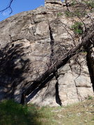 Rock Climbing Photo: Interesting new obstacle at the start of the route...