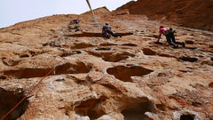 Rock Climbing Photo: The Outsiders is the center line. Left is Five Gal...
