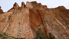 Rock Climbing Photo: Climber on Five Gallon Buckets.