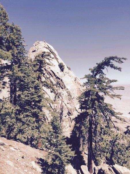 Rock Climbing Photo: Coffman Crag from the C to C trail... you get real...