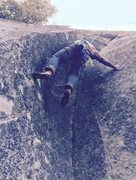 Rock Climbing Photo: Bill Leventhal cranking on Corner's Report