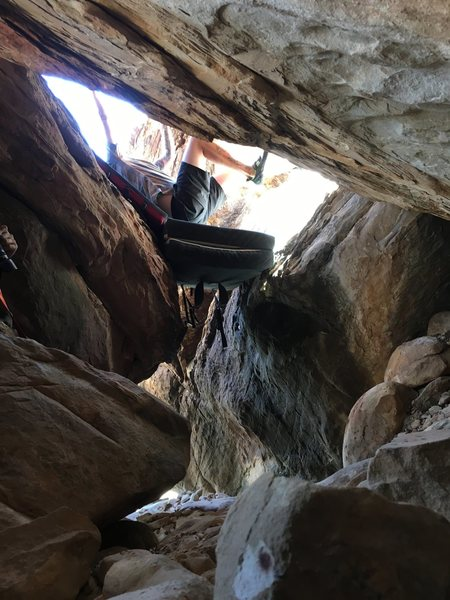 Rock Climbing Photo: Another view of the start, as looking from Name Pl...