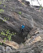 Rock Climbing Photo: James Otey on the FFA of Mesresha