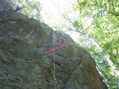 Rock Climbing Photo: Fun Classic at Diamond ledge. good for beginner to...