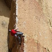 Rock Climbing Photo: Going from the first to the second blok