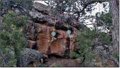 Rock Climbing Photo: 1. Chariot Hydraulics problem beta.