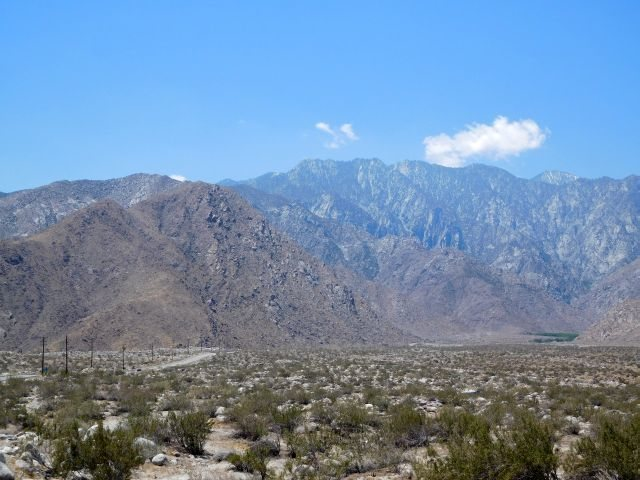 Rock Climbing Photo: Mt. San Jacinto and the road to Valley Station, Th...