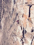 Rock Climbing Photo: I'm hanging around on the 5th. Looking down from t...