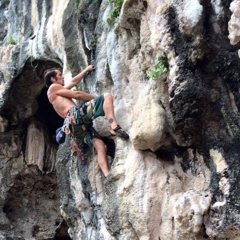 Rock Climbing Photo: I'm couple of bolts off the ground