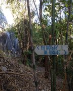 Rock Climbing Photo: Follow the signs