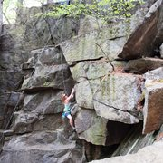 Here is another photo of me climbing it