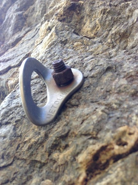 Rock Climbing Photo: Bad bolt at Morning Star Gully. Just one of many (...