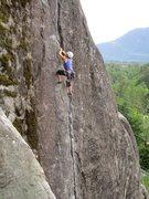 Rock Climbing Photo: Climber on Cold Comfort.