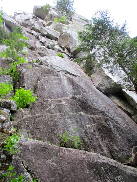Rock Climbing Photo: Rock On Direct (aka Hard On) ascends the wall to t...