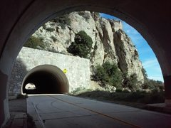 Rock Climbing Photo: Tunnels along the Angeles Crest Hwy, Angeles Natio...