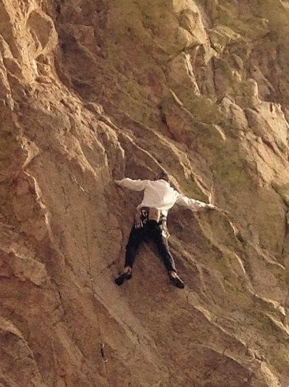Rock Climbing Photo: Cody Paulson leading in Cochise Stronghold AZ