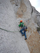 Rock Climbing Photo: Start of the classic pitch 1...don't fall here!