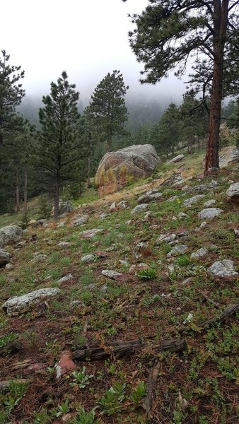 Rock Climbing Photo: Wanka Rock (AKA Bob's Rock) - view from walking up...