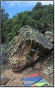 Rock Climbing Photo: Just Being problem beta.