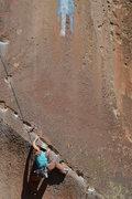 Rock Climbing Photo: Grace working through Hermanos de la Weenie Way, P...